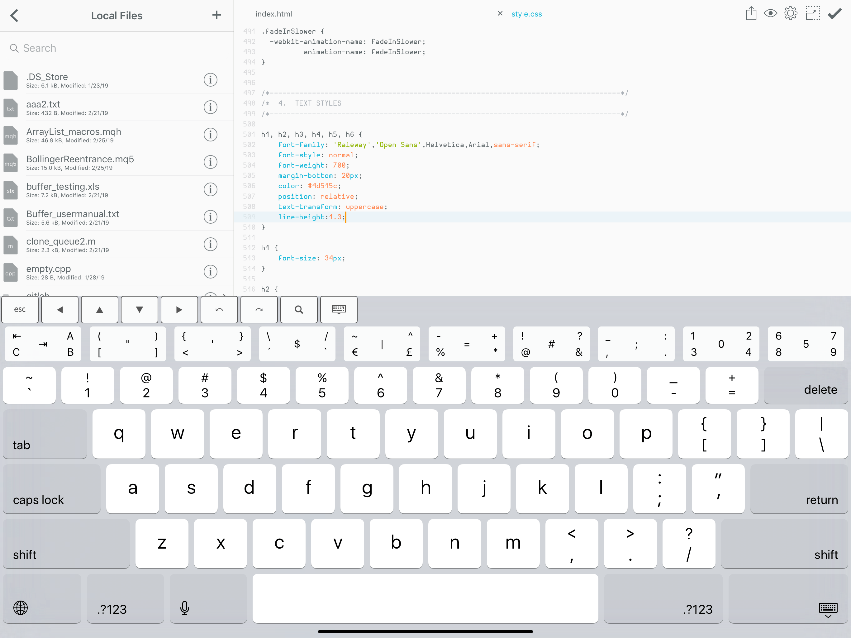 Buffereditor – Code and text editor for iPhone, iPad and