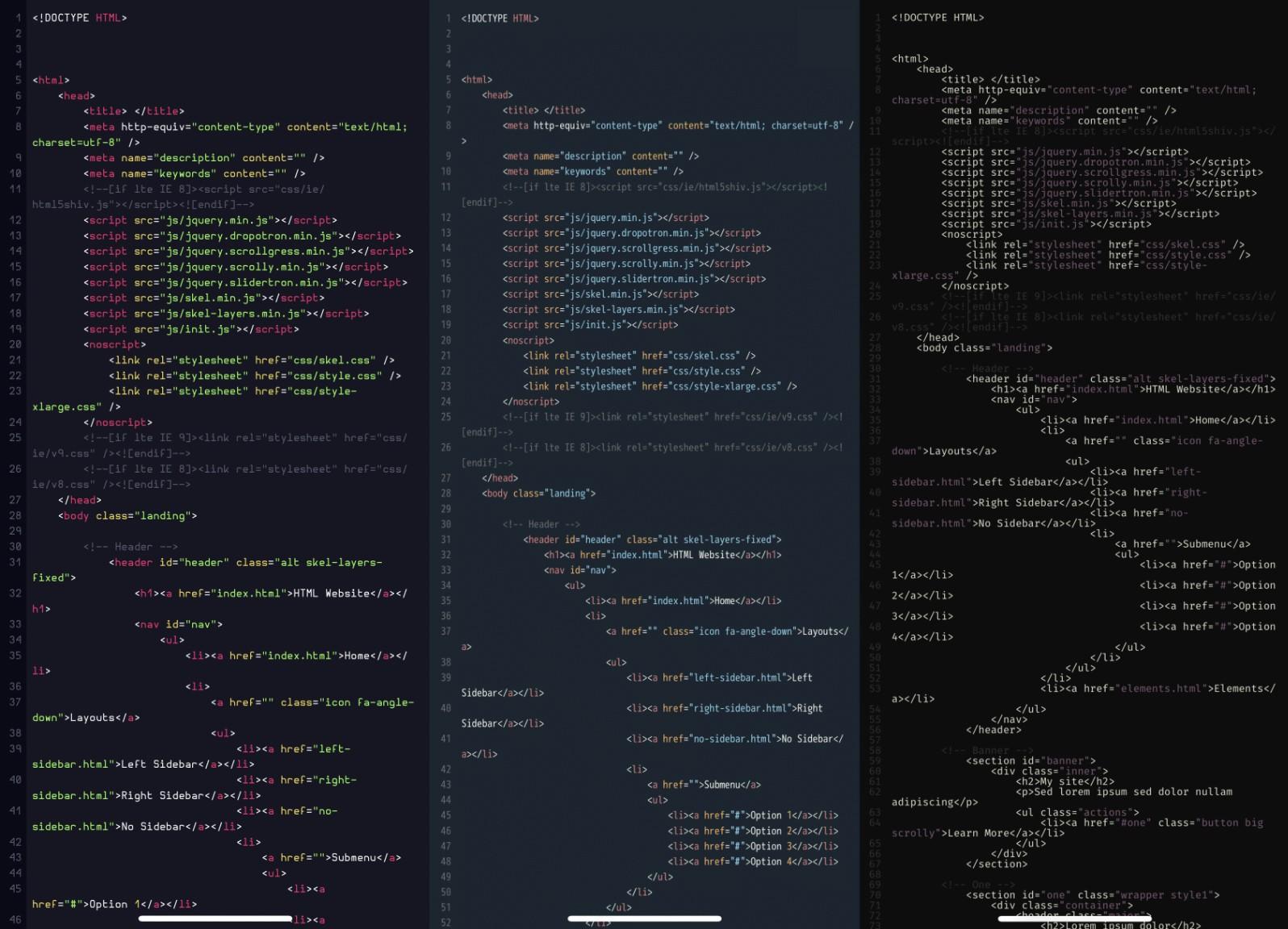 editpad pro dark theme